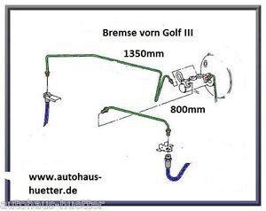= 2x Bremsleitung - Golf III - Vorderachse rechts und links =