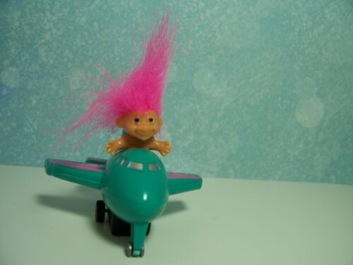 """NEW STORE STOCK ~~RARE~~ 2/"""" Russ Toy Troll Doll BOY IN AIRPLANE"""