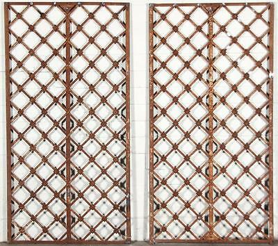 Architectural Cast and Wrought Iron Trellis Panels