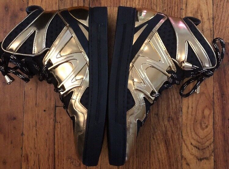 a3ab27e0ddde MARC BY MARC MARC MARC JACOBS Ninja Metallic High Top Sneakers Women s Gold  Shoes 483ebf