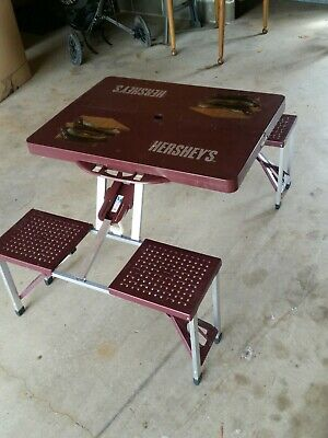 Hershey S S Mores Folding Picnic Table Vintage Camping Table Compact Ebay