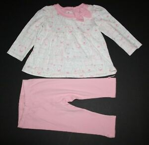 Vêtements, Accessoires Neuf Gymboree 2 Pièces Costume Léopard Des Neiges Haut Rose Set Pantalon 18-24m Good Companions For Children As Well As Adults