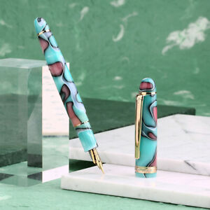 New-Moonman-S3-Acrylic-Fountain-Pen-Gift-Pen-Beautiful-Colored-Barrel-EF-F-Nib