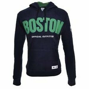 Dettagli su ADIDAS BASKET BOSTON CELTICS FELPA HOODY MAN HOODED TOP B03383