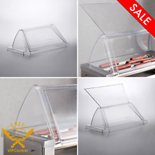 12 Hot Dog Clear Roller Grill Sneeze Guard For Grand Slam Single Door Acrylic