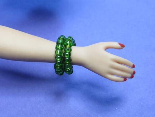 Dreamz BLUE GREEN GOLD /& RED Bead Snake Bracelet made for Barbie Doll Jewelry