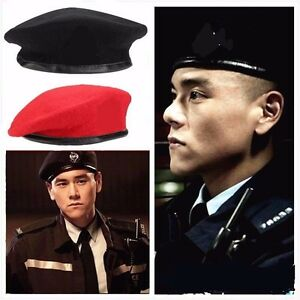 7c569279663 Unisex Military Army Soldier Beret Hat Wool Men Women Adjustable ...