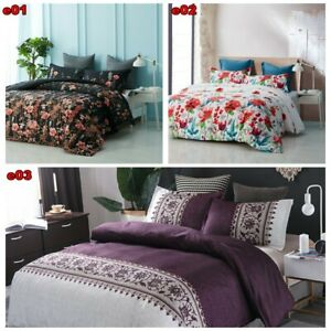 Warm Soft Winter Comforter Doona European Floral Coverlets King Size Bedspreads