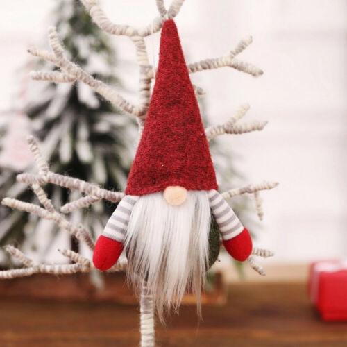 2020 Christmas Faceless Gnome Santa Xmas Tree Hanging Ornament Doll Decorations
