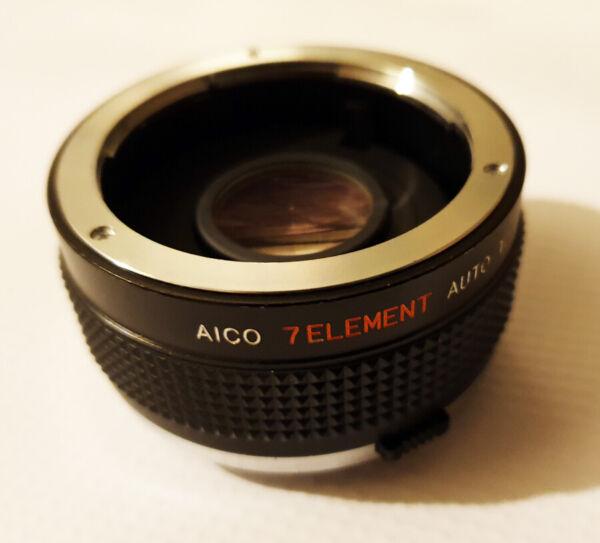 Aico 7 élément Nikon Fit X2 Auto Mc Tele Convertisseur-for Manual Focus Lentilles