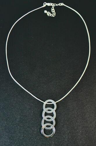 ZX10 Señoras plata única enclavamiento Aro Collar de gota declaración única