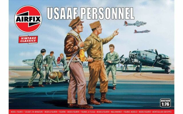 Airfix A00748V USAAF Personnel 1:76 Scale Model Airfix