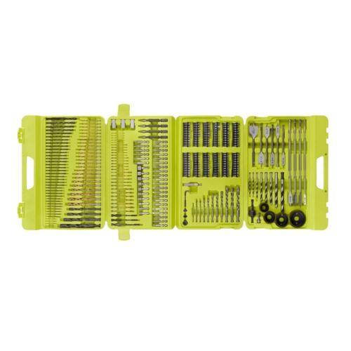 Ryobi Multi-matériaux Drill Drive Bit Set 300-Pcs Revêtement Titane Combinaison Bit