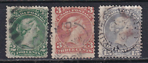 Canada Large Queen Issues #24, 25 and 30  Used  HICV  See*