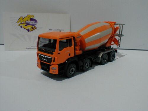 "Wiking 0681 48-Man tgs euro 6 Liebherr /""hormigoneras/"" en naranja-blanco 1:87"
