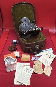 Victor Model 5 movie camera 16mm w leather case vintage cine
