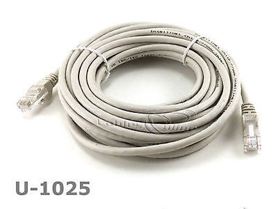 Intellinet 25 ft CAT5E UTP Ethernet RJ45 Patch Cable BL