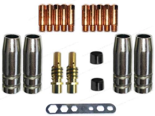 inyectores bastón MIG//MAG 0,6 electricidad boquilla boquillas vigas Consumibles mb15//150 gasdüse