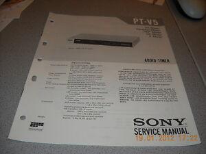 SONY PT-V5 Audio Timer Service Manual