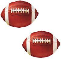 Football Shaped Sports Ball (2) 18 Super Bowl Championship Game Mylar Balloons