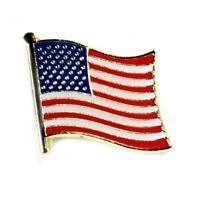 American Flag Lapel Pin 0.5 United States Usa Hat Tie Tack Metal Badge Pinback