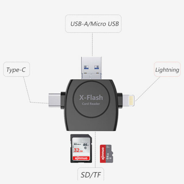 2-in-1 Micro USB2.0 OTG Adapter Micro SD TF Card Reader for Android Phone
