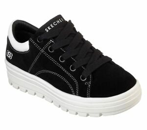 aab8760000f Image is loading Skechers-Street-Cleat-Back-Again-Trainers-Suede-Platform-