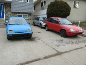 Geo Metros and Chevy Sprint for sale
