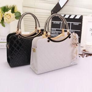 Ladies-Black-Leather-Handbag-New-Tote-Designer-Style-Celebrity-Shoulder-Bag-UK
