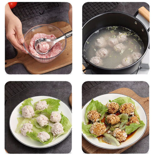 Non-Stick Meatball Maker Spoon Meat Baller Meat Ball Mold Kitchen Meat GaH;UK