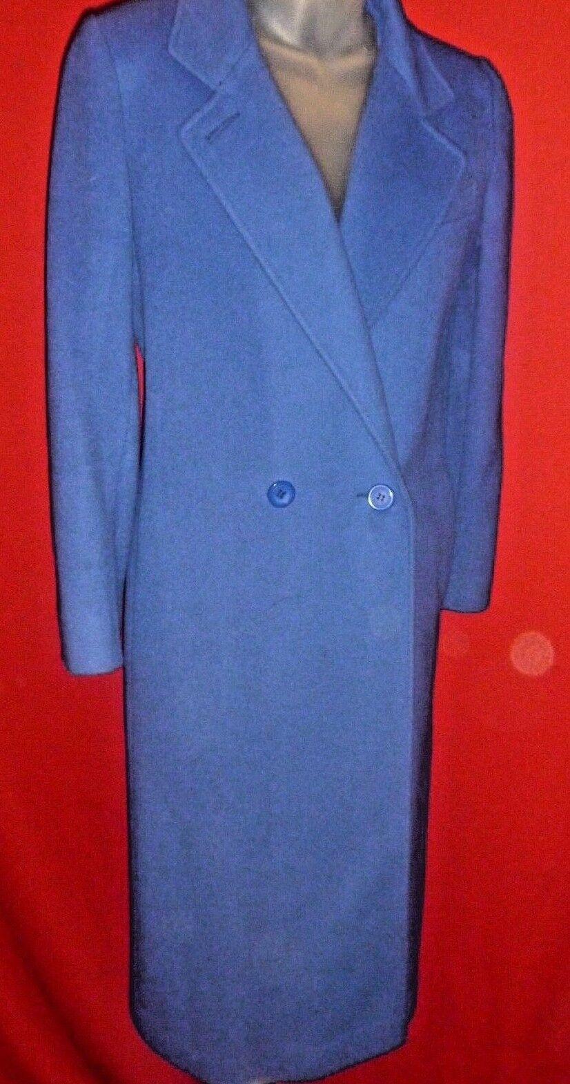 VTG VTG VTG PIN POINT FASHIONS Royal bluee 100% Wool Stroller Coat Sz Large 565de4