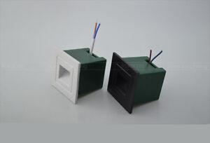 10-x-1w-mini-LED-Lampe-Murale-Carre-Encastrable-Coin-Mur-Escalier-Spot-etanche