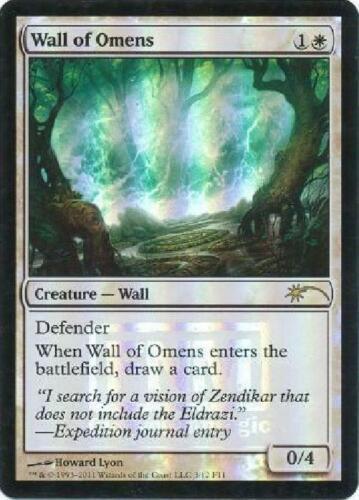 Wall of Omens FNM Foil NM MTG Promo Magic 2B3