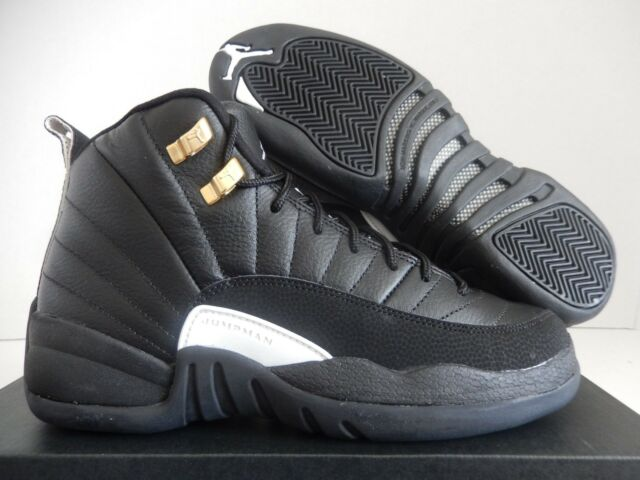 2abb9645fd79f6 Nike Air Jordan 12 Retro BG The Master Black Metallic Gold 153265 ...