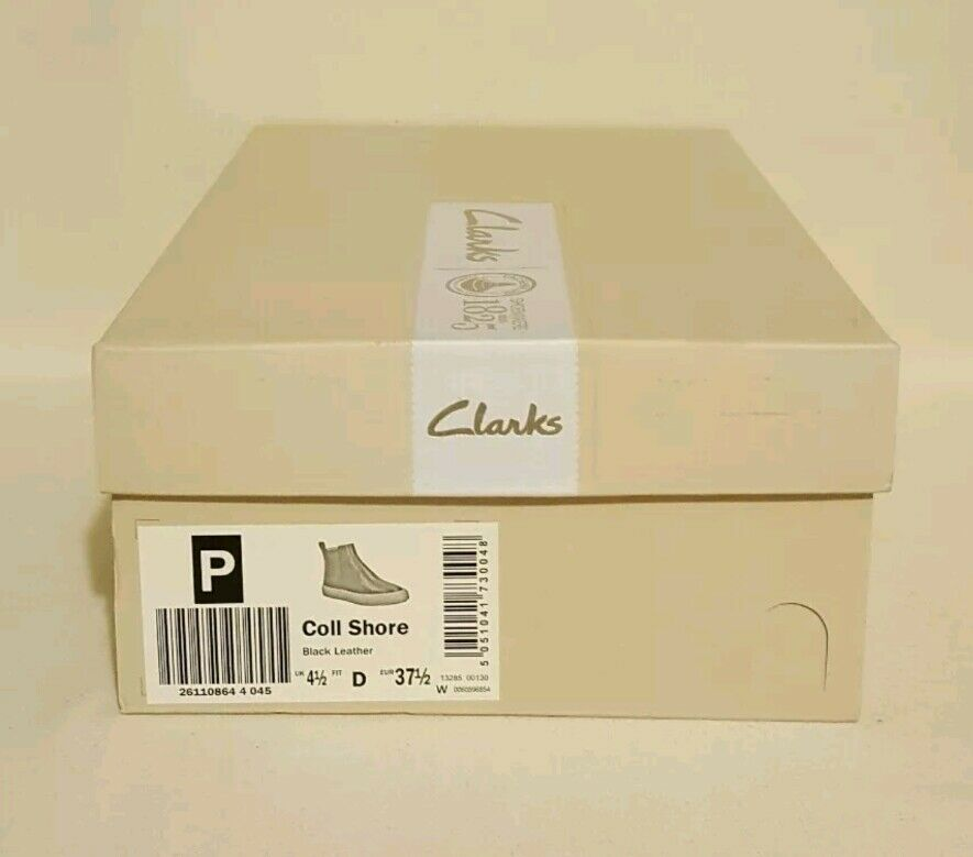 NEW CLARKS NARRATIVE COLL SHORE BLACK GENUINE LADIES LEATHER ANKLE BOOTS SHOES LADIES GENUINE e10d51
