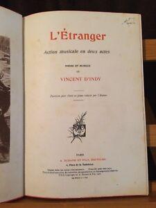 D-039-Indy-L-039-etranger-partition-chant-piano-volume-relie-editions-Durand