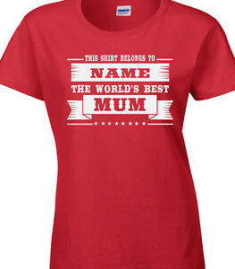 0a815b66ae8 Image is loading Mum-Ladies-Personalised-T-Shirt-Gift-Family-Party-