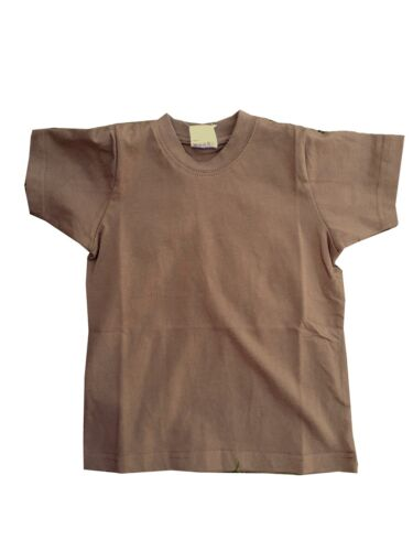 Highlander Kids Coyote Tan Military Style T-Shirt Army Forces Brown Child/'s