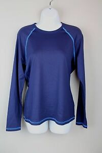 c9649eaa00 J.Crew  68 Women s Sun Shirt XS navy royal blue Rash guard swim ...