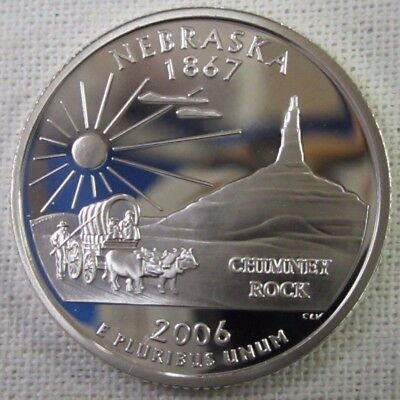 Silver 2006-S Nebraska Proof State Quarter Deep Cameo Combined Shipping
