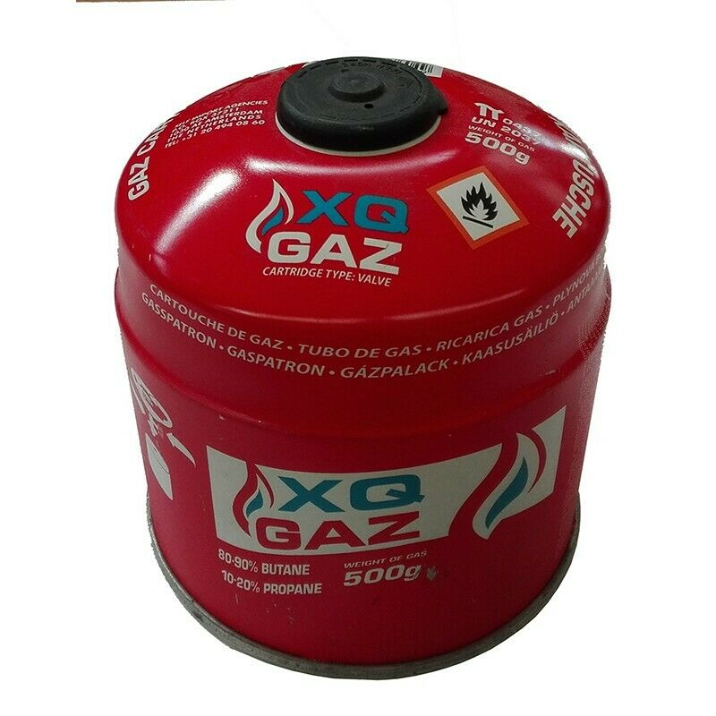XQ-Gas Gaskartusche  500 Gramm     Butangas Propangas Kocher Kartusche Gaskartusc  exclusive