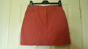 River-Island-size-12-red-checked-cotton-mini-skirt