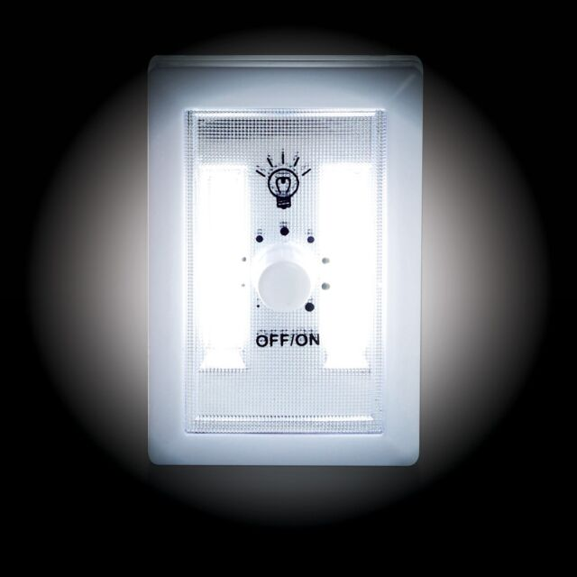 Dimmer Switch Night Light - battery operated, LED, super bright, white, adjustab