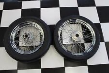 "*MINT* OEM Harley Davidson Sportster 19"" Front 16"" Rear Wheel Set & Tires !"