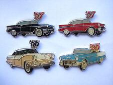 SALE RARE VINTAGE HQ CARS 1950s USA CLASSIC MOTOR CAR SET PIN BADGE JOB LOT 99p