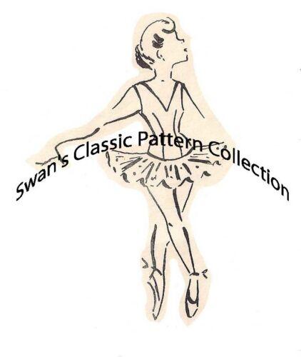 Vintage Basic Ballet Tutu Costume Sewing Patterns Size 6
