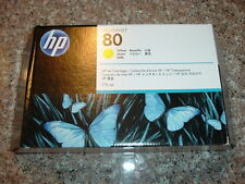 2015! HP-80 Yellow Ink cartridge (C4873A) 175 ml for Designjet 1050,1055