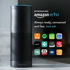 Altoparlante Wireless Amazon ECHO-Inscatolato e sigillato in fabbrica-Adattatore REGNO UNITO-UK STOCK