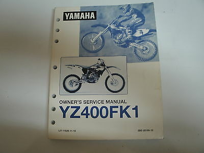 YAMAHA 1998 YZ400FK1 OWNERS SERVICE MANUAL DG S1036
