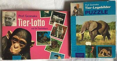 Genial Tier-lotto Mit 54 Tierbildern Und 3 Tier-legebilder Puzzle Von Prof. Grzimeks